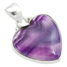 12.58cts natural multi color fluorite 925 sterling silver pendant jewelry t21334