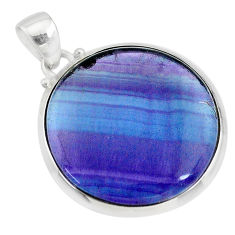 18.82cts natural multi color fluorite 925 sterling silver pendant jewelry t21482