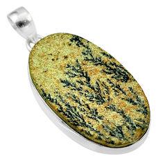 27.70cts natural multi color germany psilomelane dendrite silver pendant t54889