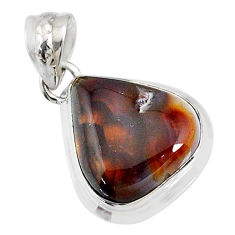 15.08cts natural multi color mexican fire agate 925 silver pendant r72946