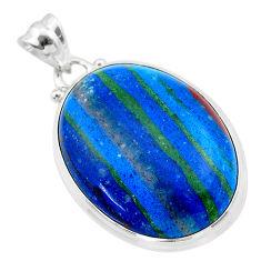18.15cts natural multi color rainbow calsilica 925 silver pendant jewelry t26476