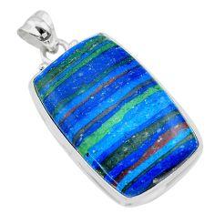 21.48cts natural multi color rainbow calsilica 925 silver pendant t26461