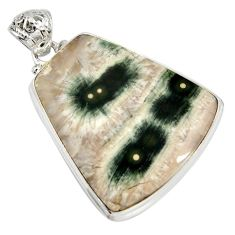 34.94cts natural ocean sea jasper (madagascar) 925 silver pendant jewelry d41322