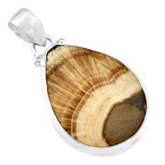 27.69cts natural orange celestobarite 925 sterling silver pendant jewelry r19629