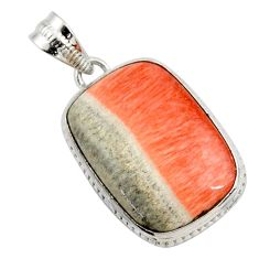 19.72cts natural orange celestobarite 925 sterling silver pendant jewelry r27998