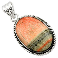 20.65cts natural orange celestobarite 925 sterling silver pendant jewelry r31961