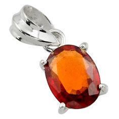 4.86cts natural orange hessonite garnet 925 sterling silver pendant r43396