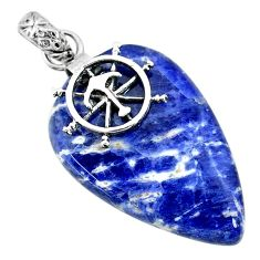 Clearance Sale- 22.69cts natural orange sodalite 925 sterling silver pendant jewelry r90844