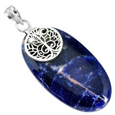 30.76cts natural orange sodalite 925 sterling silver pendant jewelry r90845