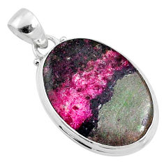 16.20cts natural pink cobalt calcite 925 sterling silver pendant jewelry r66063