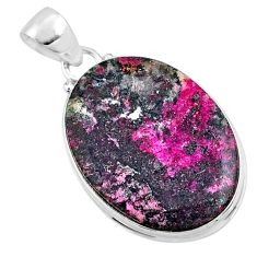 19.68cts natural pink cobalt calcite 925 sterling silver pendant jewelry r66076