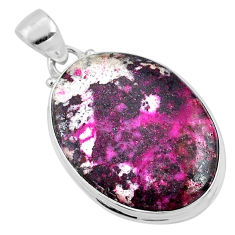 22.02cts natural pink cobalt calcite 925 sterling silver pendant jewelry r66077