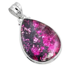 19.23cts natural pink cobalt calcite 925 sterling silver pendant jewelry r66080