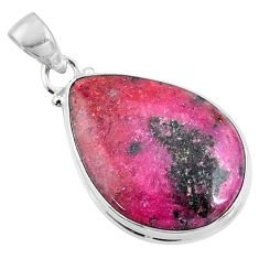 18.15cts natural pink cobalt calcite 925 sterling silver pendant jewelry r66113