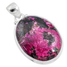 22.44cts natural pink cobalt calcite 925 sterling silver pendant jewelry r66115