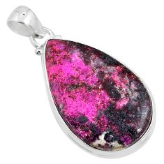 22.44cts natural pink cobalt calcite 925 sterling silver pendant jewelry r66116