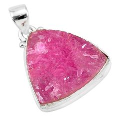 17.22cts natural pink cobalt calcite 925 sterling silver handmade pendant r92926