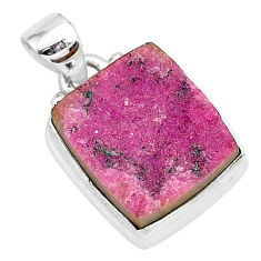 13.67cts natural pink cobalt calcite 925 sterling silver handmade pendant r92971