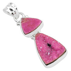 13.15cts natural pink cobalt calcite 925 sterling silver handmade pendant r93009