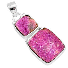 16.20cts natural pink cobalt calcite 925 sterling silver handmade pendant r93016