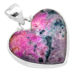 20.07cts natural pink cobalt calcite 925 sterling silver pendant jewelry t13443