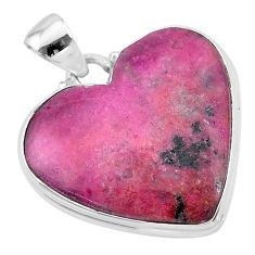 24.00cts natural pink cobalt calcite 925 sterling silver pendant jewelry t13445