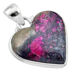 15.08cts natural pink cobalt calcite 925 sterling silver pendant jewelry t13446