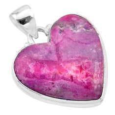 21.50cts natural pink cobalt calcite 925 sterling silver pendant jewelry t13448