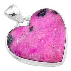 22.05cts natural pink cobalt calcite 925 sterling silver pendant jewelry t13451