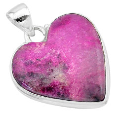 21.50cts natural pink cobalt calcite 925 sterling silver pendant jewelry t13453