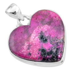 22.02cts natural pink cobalt calcite 925 sterling silver pendant jewelry t13459