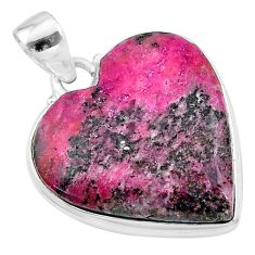 22.02cts natural pink cobalt calcite 925 sterling silver pendant jewelry t13486