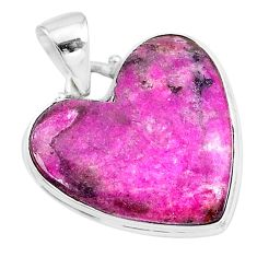 17.18cts natural pink cobalt calcite 925 sterling silver pendant jewelry t14849