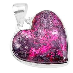 16.85cts natural pink cobalt calcite 925 sterling silver pendant jewelry t14850