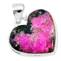 15.22cts natural pink cobalt calcite 925 sterling silver pendant jewelry t14856