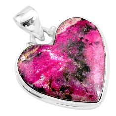 19.07cts natural pink cobalt calcite 925 sterling silver pendant jewelry t14857