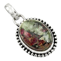 13.73cts natural pink eudialyte 925 sterling silver pendant jewelry r26510