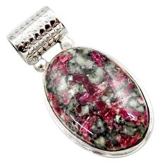 20.07cts natural pink eudialyte 925 sterling silver pendant jewelry r27963
