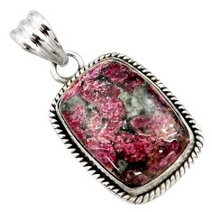 19.72cts natural pink eudialyte 925 sterling silver pendant jewelry r27968