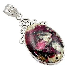 19.23cts natural pink eudialyte 925 sterling silver pendant jewelry r27974