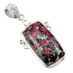 20.07cts natural pink eudialyte 925 sterling silver pendant jewelry r32145