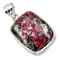 24.38cts natural pink eudialyte 925 sterling silver pendant jewelry r32146