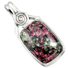 22.44cts natural pink eudialyte 925 sterling silver pendant jewelry r32150