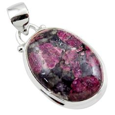 13.73cts natural pink eudialyte 925 sterling silver pendant jewelry r46223