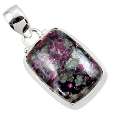 14.18cts natural pink eudialyte 925 sterling silver pendant jewelry r46228