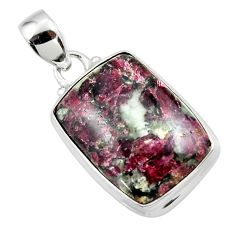 15.85cts natural pink eudialyte 925 sterling silver pendant jewelry r46229