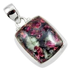 15.55cts natural pink eudialyte 925 sterling silver pendant jewelry r46230