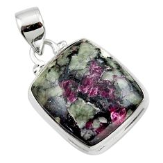 13.67cts natural pink eudialyte 925 sterling silver pendant jewelry r46231