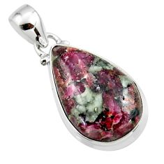 13.55cts natural pink eudialyte 925 sterling silver pendant jewelry r46232