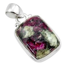 12.93cts natural pink eudialyte 925 sterling silver pendant jewelry r46236